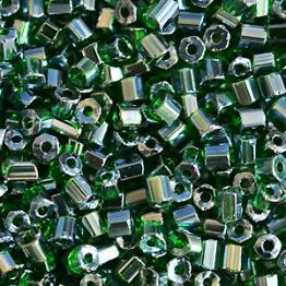 Рубка PRECIOSA 10/0 50грамм цвет: зеленый прозрачный блестящий 56060