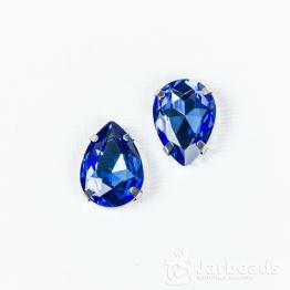Страза каплевидная 13*18мм (синий)