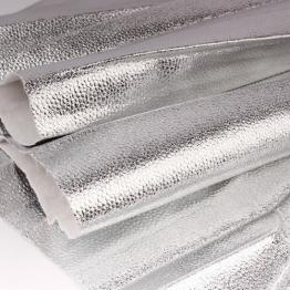 Заменитель кожи Бруклин лоскут 20*30см (серебро) арт.B250-145
