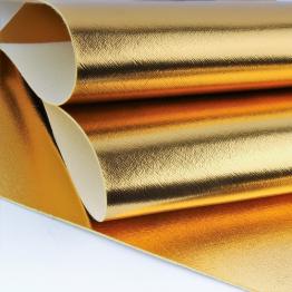 Заменитель кожи Гранж лоскут 20*30см (золото)