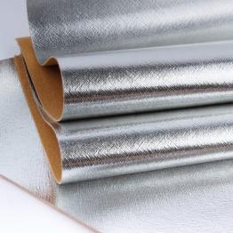 Заменитель кожи Гранж лоскут 20*30см (серебро) арт.L40-70
