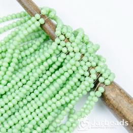 Кристаллы рондель 4*5мм зеленый нежный керамика 144штуки арт.17