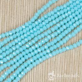Кристаллы 4мм нежно голубой карамельный 50штук