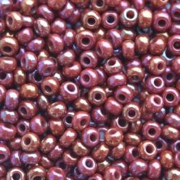 Бисер PRECIOSA 10/0 (15гр) 2сорт цвет: сиреневый темный с отливом арт.94300