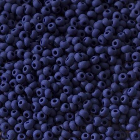 Бисер PRECIOSA 10/0 (50гр) 1сорт цвет: синий керамика матовый арт.33070m