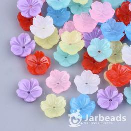 Бусина-цветок смола 9,5*3,5мм (микс) 10шт X-RESI-T040-025