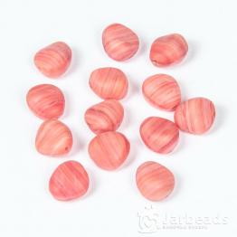 Бусины стеклянные PRECIOSA камушки 10*10мм (красный) 10штук