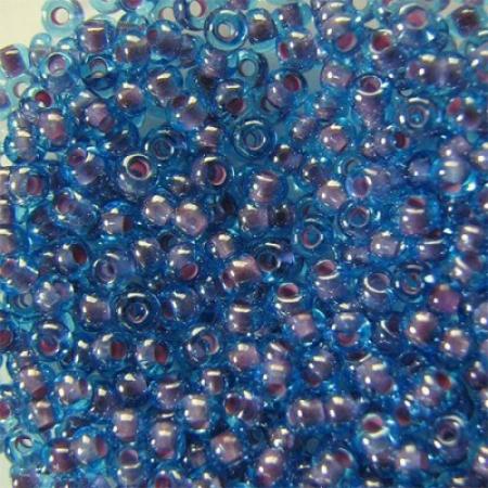 Бисер PRECIOSA 10/0 (50гр) 1сорт цвет: голубой с розовой серединкой арт.61018