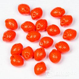 Бусины стеклянные PRECIOSA апельсин 10*12мм (оранжевый) 10штук