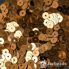 Пайетки круглые металлик 6мм (кофе) 10гр