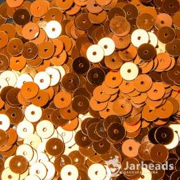 Пайетки круглые металлик 6мм (медный) 10гр