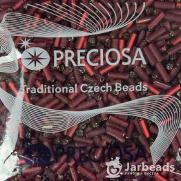 Стеклярус PRECIOSA (50гр) цвет красный матовый огонек арт.97090m