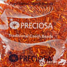 Стеклярус PRECIOSA (50гр) цвет оранжевый огонек арт.150024