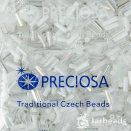 Микс стекляруса PRECIOSA (50гр) цвет белый и серебро арт.150026