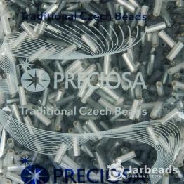 Микс стекляруса PRECIOSA (50гр) цвет серый и серебро матовые арт.150025m