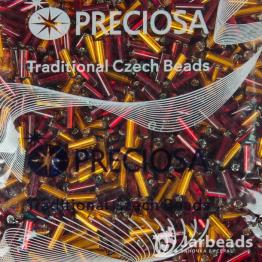 Микс стекляруса PRECIOSA (50гр) цвет оранжевый и красный арт.150028