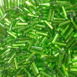 Стеклярус PRECIOSA (50гр) цвет зеленый огонек арт.57430