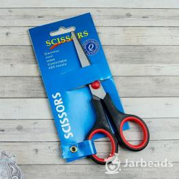Ножницы с прорезиненой ручкой длина лезвия 5,5см