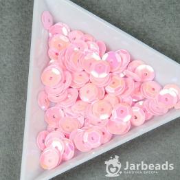 Пайетки круглые перламутр с гранями 7мм (нежно розовый) 10гр