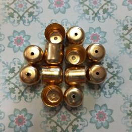Колпачки литые с отверстием вн.d.9мм (розовое золото) 2шт