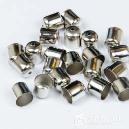 Колпачки литые с отверстием вн.d.11мм (серебро) 2шт