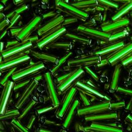 Стеклярус PRECIOSA (50гр) цвет зеленый огонек арт.57060