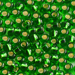 Бисер PRECIOSA 6/0 (50гр) цвет: зеленый огонек арт.57120