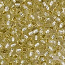 Бисер PRECIOSA 10/0 (20гр) 1сорт золотисто-салатовый огонек арт.78252