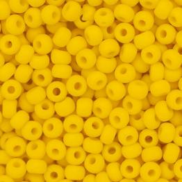 Бисер PRECIOSA 10/0 (20гр) 1сорт желтый керамика матовый арт.83110m