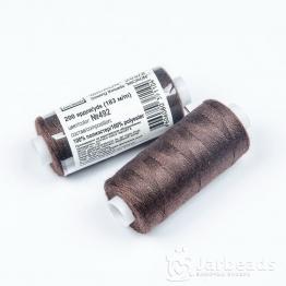 Нитки Джинсовые Полиэстер 20s/2 MICRON намотка 183м (темно коричневый) №492