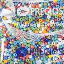 Бисер PRECIOSA 6/0 (50гр) цвет: микс из блестящей керамики