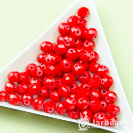 Кристаллы рондель 5*6мм красный керамика 10штук