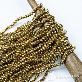 Кристаллы рондель 4*5мм золото 144штуки арт.114