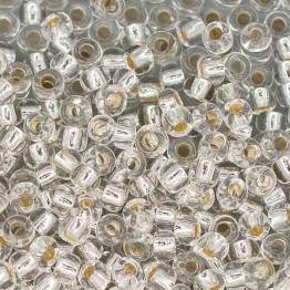 Бисер PRECIOSA 6/0 (50гр) серебряный огонек арт.78102