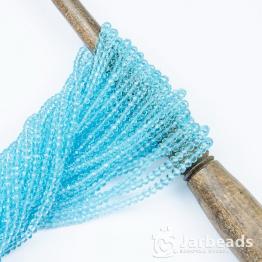 Кристаллы рондель 3*4мм голубой светлый прозрачный 140штук арт.7