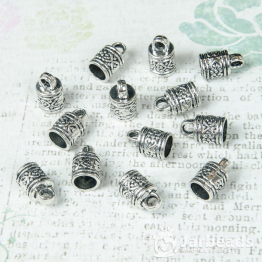 Колпачки литые с петлей Узор вн.d.8мм (серебро) 2шт.